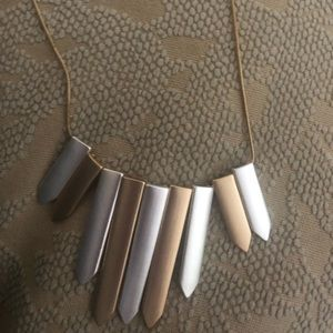 Gold, long necklace